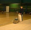 Sports hall floor refurbish for Wood floor repair specialist